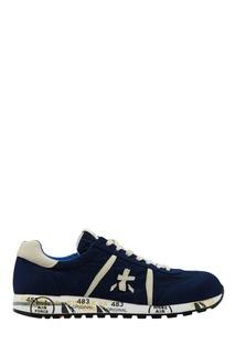 Бело-синие кроссовки Lucy Premiata