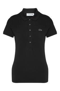 Черная футболка-поло Lacoste