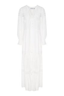 Белое платье в фольклорном стиле Self Portrait