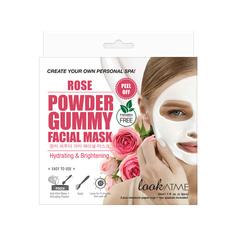 LOOK AT ME Маска для лица альгинатная увлажняющая и придающая сияние с экстрактом розы