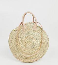 Соломенная сумка с кожаными ремешками Orelia - Мульти