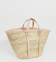 Соломенная сумка с кожаной отделкой Orelia - Мульти