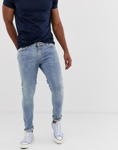 Голубые джинсы скинни Nudie Jeans Co Lin - Синий