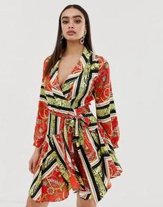 Платье миди с принтом Club L - Мульти