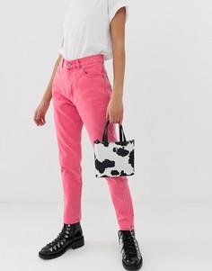 Розовые джинсы в винтажном стиле с завышенной талией Dr Denim Nora - Розовый