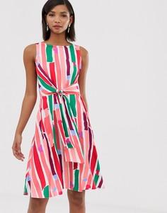 Платье-футляр с запахом и принтом Closet London - Мульти