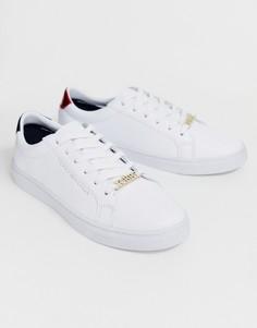 Классические кожаные кроссовки на шнуровке Tommy Jeans - Белый