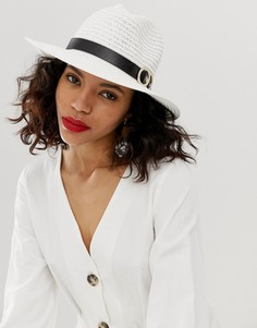 Белая шляпа с золотистым украшением River Island - Белый