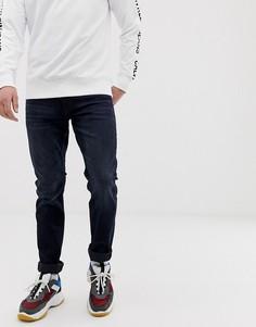 be488d17135 Темно-синие выбеленные узкие джинсы стретч Calvin Klein Jeans 026 - Синий