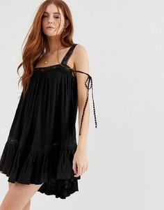 Платье-туника Free People - Черный
