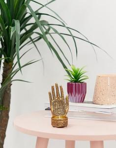 Подсвечник для короткой свечи в виде кисти Candlelight - Золотой
