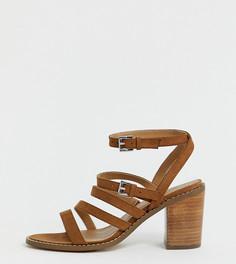 Босоножки на каблуке для широкой стопы ASOS DESIGN Tycoon - Рыжий