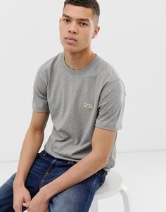 Серая меланжевая футболка с логотипом Nudie Jeans Co - Daniel - Серый