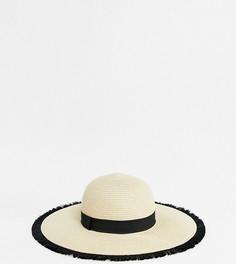 Широкополая шляпа с бахромой ALDO - Бежевый