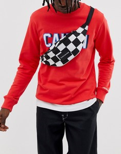 Сумка-кошелек с шахматным принтом Calvin Klein Jeans Sport Essential - Черный