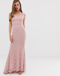 Платье макси с кружевной отделкой Club L - Фиолетовый