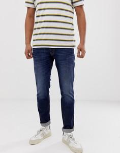 Выбеленные джинсы узкого кроя Replay - Синий