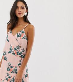 Платье-комбинация с пуговицами и принтом морских коньков Native Youth - Розовый