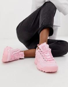 Розовые лакированные кроссовки Fila - Черный