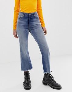 Облегающие укороченные расклешенные джинсы Dr Denim - Синий