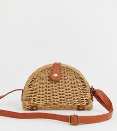 Соломенная сумка через плечо My Accessories London - Бежевый