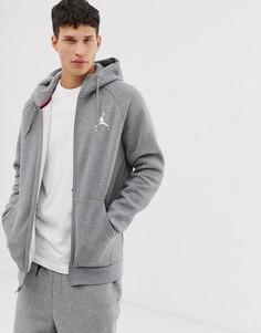 Худи серого цвета с логотипом Jordan - Серый