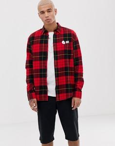 Красная клетчатая рубашка Cheap Monday - Красный