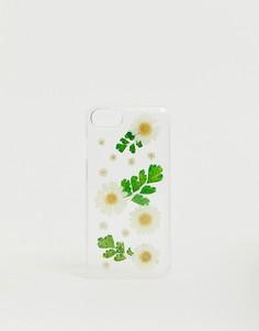Прозрачный чехол для iPhone 6/7/8 с цветочным рисунком Monki - Очистить