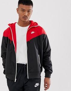Водонепроницаемая куртка на молнии (красный/черный) Nike - Красный