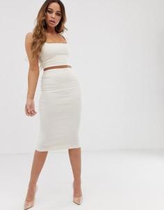Светло-бежевая юбка миди из комплекта Vesper - Бежевый