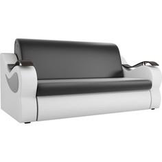 Прямой диван АртМебель Меркурий экокожа черный/белый (160)