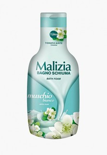 """Пена для ванн Malizia белый мускус """"""""WHITE MUSK"""", 1000 мл"""