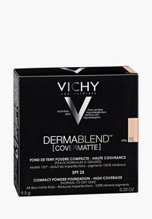 Пудра Vichy Dermablend компактная spf25 для нормальной и жирной кожи, тон 15, 9,5 г