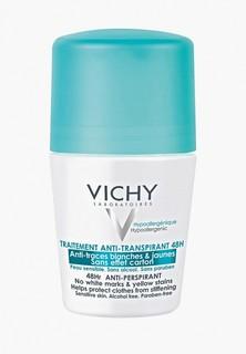 Дезодорант Vichy антиперспирант 48 ч шариковый Deodorants против белых и желтых пятен, 50 мл
