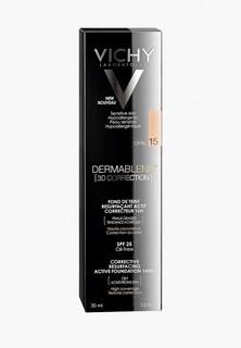 Тональное средство Vichy DERMABLEND 3D с высоким покрытием для жирной кожи, склонной к появлению акне, тон 15 30 мл
