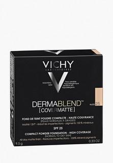 Пудра Vichy Dermablend компактная spf 25 для нормальной и жирной кожи, тон 25, 9,5 г