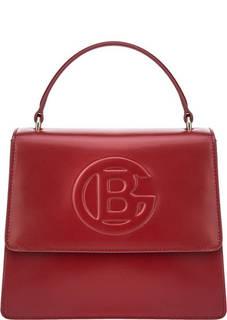 Маленькая красная сумка с тиснением Camilla Baldinini