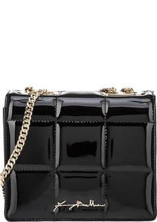 Стеганая лаковая сумка Emma Patent Baldinini