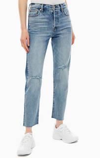 Рваные синие джинсы прямого кроя Wedgie Straight Levis
