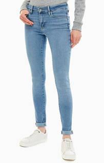 Синие джинсы скинни со стандартной посадкой 711 Skinny Levis