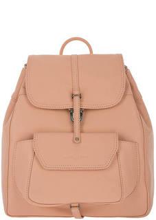 Кожаный рюкзак кораллового цвета с откидным клапаном Lancaster