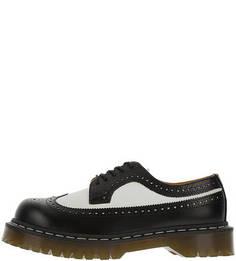 Кожаные ботинки с брогированием на толстой подошве Dr Martens