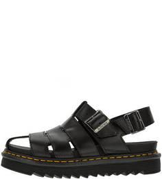 Кожаные сандалии на толстой подошве Dr Martens