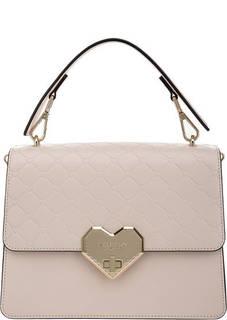 Кожаная сумка через плечо с тиснением Tosca Blu