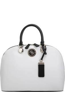 Белая сумка с короткими ручками Guess