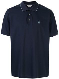 Gieves & Hawkes футболка-поло с вышитым логотипом