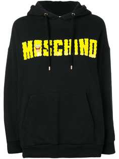 Moschino Vintage худи со шнурком и логотипом 2000-х годов
