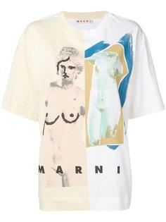Marni футболка Venere с принтом