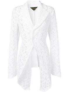 Comme Des Garçons кружевной пиджак-смокинг
