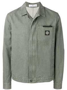 Stone Island куртка-рубашка в стиле милитари